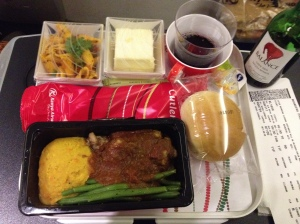In flight meal Amsterdam - Nairobi