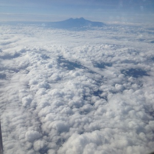 Overflying Mt Kilimanjaro en route to an African business trip adventure.