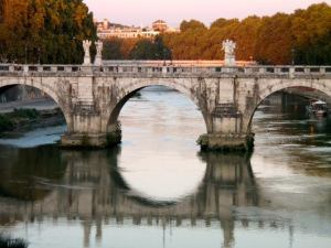 ponte Sant'angelo has spanned the Tiber for nearly 2000 years