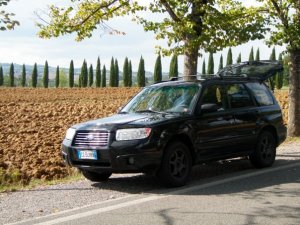 Subaru parks in Tuscany, middle of nowhere, and gets a parking ticket half an hour later