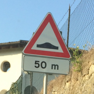 speed hump in 50 meters
