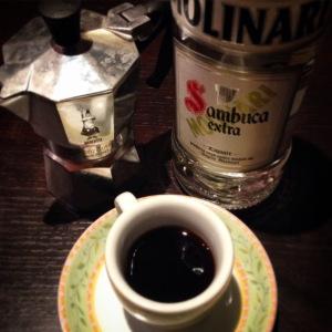 evening ritual - caffè corretto sambuca