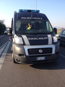 Polizia Locale - Mobile accident response unit, complete with couch and table for interviews and paperwork