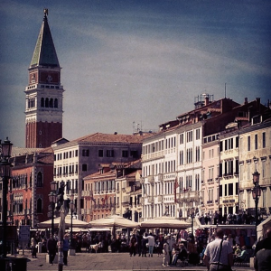 looking in the direction of piazza san marco from the Riva degli Schiavoni