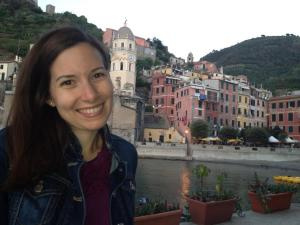 One of our best date nights, at Baia Saracena, Vernazza!