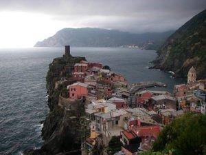 spectacular coastal scenery looking north toward Levanto