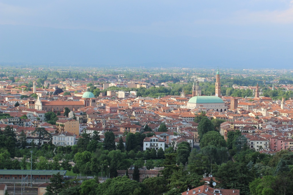 View over the city of Vicenza from Monte Berico
