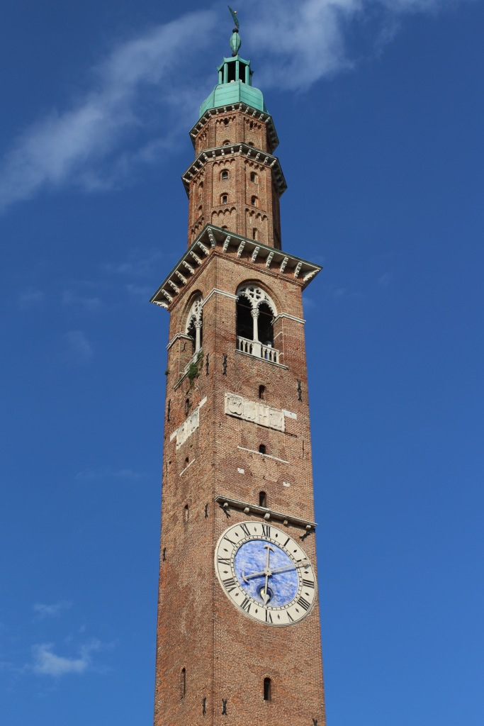 The Torre Bissara, overlooking Piazza dei Signori dates from 1174. Raised to its current height in the mid 15th century, and survived the second world war.