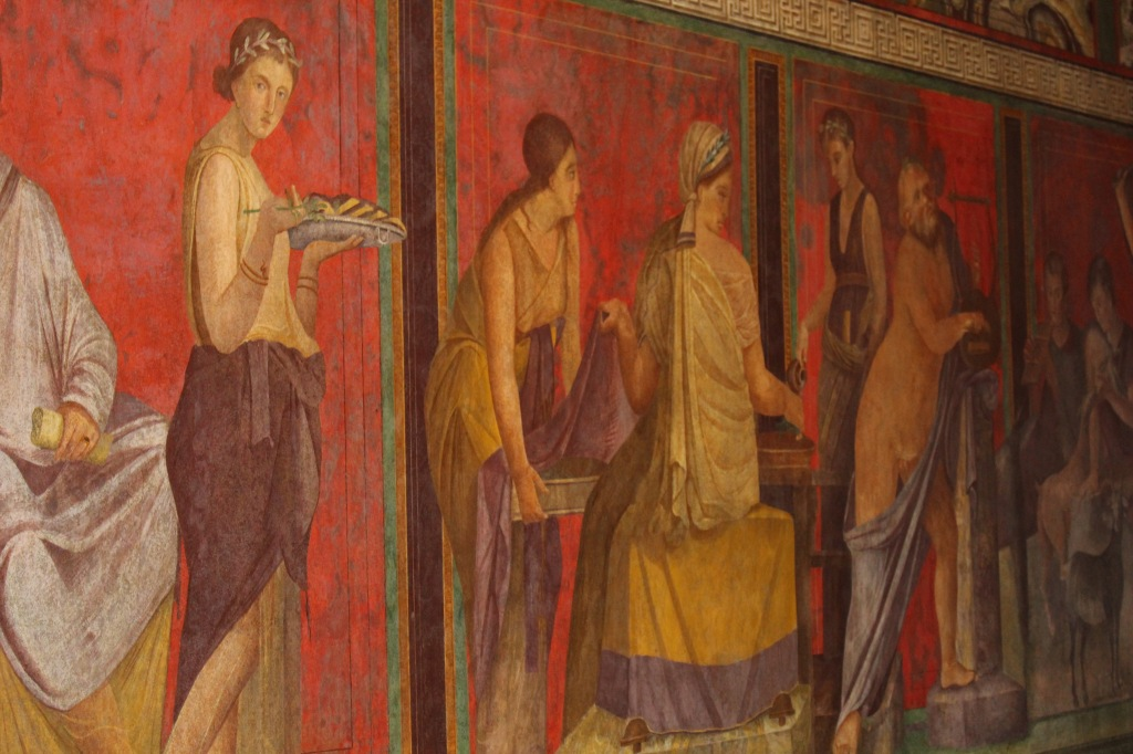 some frescos are remarkably well preserved, even after 2000 years buried in ash