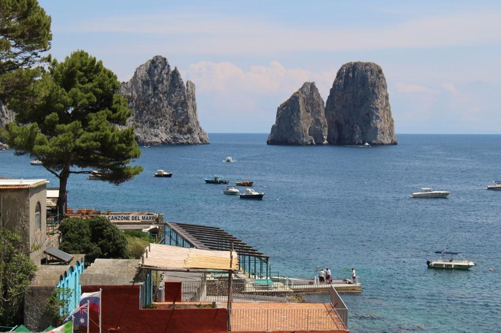 looking toward i faraglioni di Capri from just above Marina Piccola