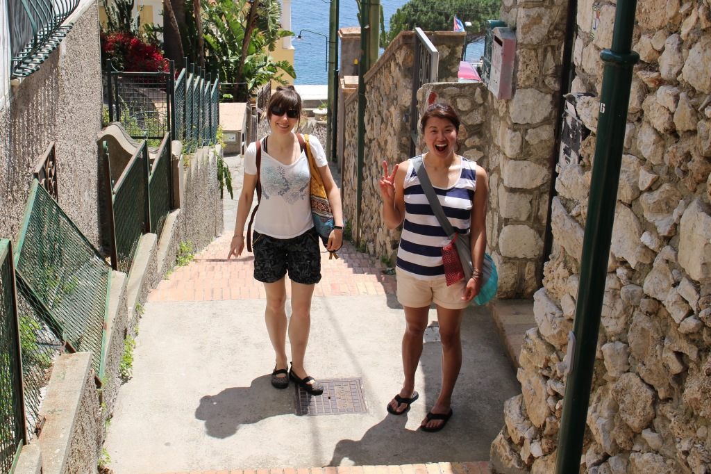 Back up from Marina Piccola toward the Capri town center, before descending to the harbour.