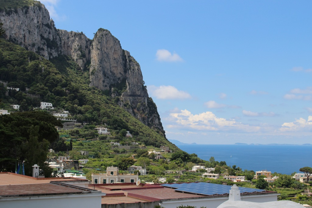 Spectacular views from Capri toward Anacapri.