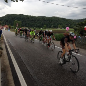 While the weather wasn't so nice, the Fimon valley still offers a scenic setting for a road-bike race!