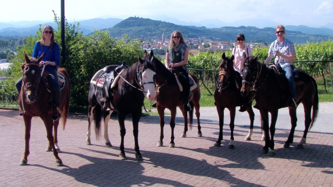 Veneto panorama at Le Pignole, and today's horseback riding adventure.