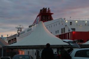 Tirrenia Ferry Line car ferry from Civitavecchia to Olbia (Sardegna).