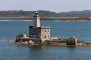Lighthouse on Isola della Bocca (Island of the Mouth).