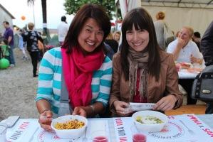 Jin Min and Alicia enjoying the Festa della Luganega, Lapio