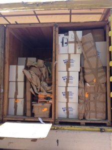 our whole lives packed and organized into two shipping crates - destination Tashkent, Uzbekstan! See you in August...