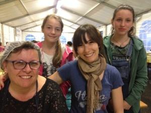 Alicia with Neri, Giulia, and Niki