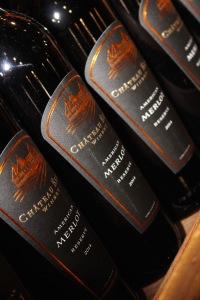 wine bottle detail - Château Élan Wine Market